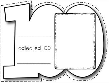 100th Day of School Collections - Parent Letter, Class Book, Bag Topper, Display