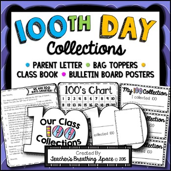 100th Day of School Collections - Parent Letter, Class Boo