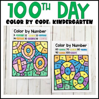 100th Day of School- Color by Code
