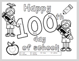 100th Day of School Coloring Addition