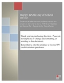 100th Day of School Coloring Chart