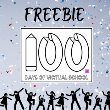 100th Day of School Coloring Page