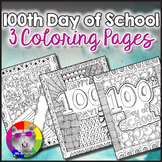 100th Day of School Coloring Pages, Zen Doodles