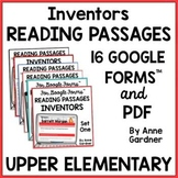 4th & 5th Grade Reading Comprehension with 16 Google Forms