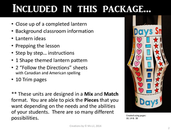 100th Day of School Craft  ::  100 Day Math Activity ::  100 Shapes