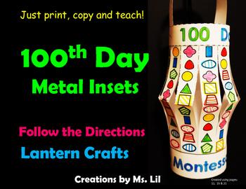 100th Day of School Craft  ::  100 Day Math  ::  Montessor