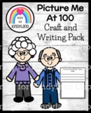 100th Day of School Craft: Picture Me at 100 Years Old (Winter)