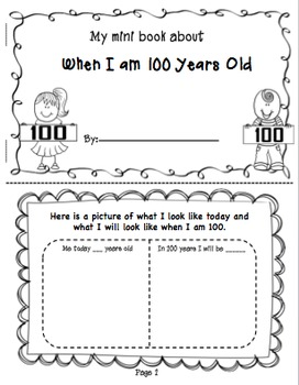 100th Day of School Craftivity and Printables