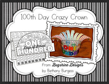 100th day of school crazy crown printable tpt for 100th day of school crown template