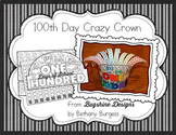 """100th Day of School """"Crazy"""" Crown Printable"""