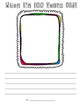 100th Day of School Creative Writing Activity