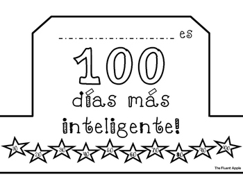 100th Day of School Crown (English/Spanish)