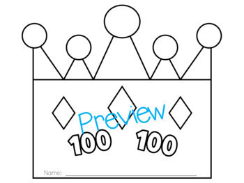 100th Day of School Crowns!