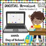 Digital Breakout Escape Room (Google Slides) - 100th Day o