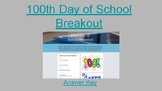 100th Day of School Digital Breakout