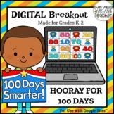 100th Day of School Digital Breakout Escape Room Grades K-2