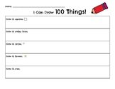 100th Day of School: Draw 100 Things!
