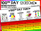 100th Day of School > EDITABLE Station Chart!