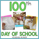 100th Day of School ELA + Math Printables & Activities  -