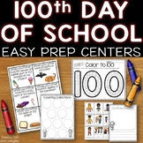 100th Day of School: Easy Prep Centers