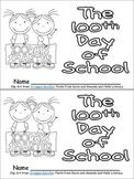 100th Day of School Emergent Reader for Kindergarten
