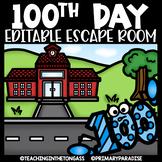 100th Day of School Escape Room EDITABLE
