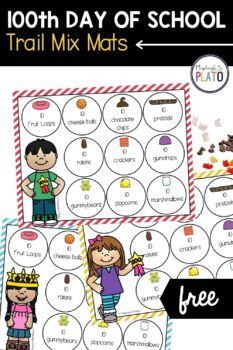 100th Day of School Trail Mix Mats
