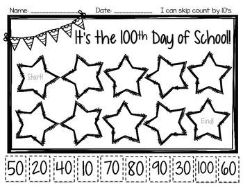 100th Day of School *FREEBIE!*