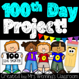 100th Day of School Family Project!