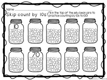 100th Day of School Skip Counting Center