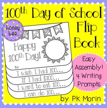 100th Day of School Flip Book