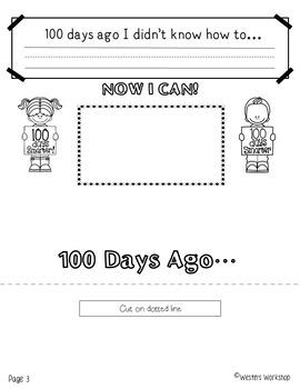 100th Day of School - Flip Book Fun!