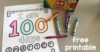 100th Day of School Free Printable