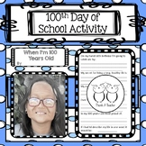 100th Day of School - Aging Photo Booth  Any Grade  No Prep Great Bulletin Board