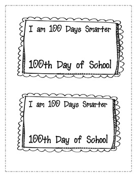 100th Day of School Freebie Candy Treat