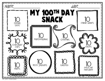 100th Day Of School Freebie Printables By Mrs Jones