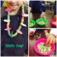 100th Day of School - Fruit Loop Necklace Ten Tags FREEBIE