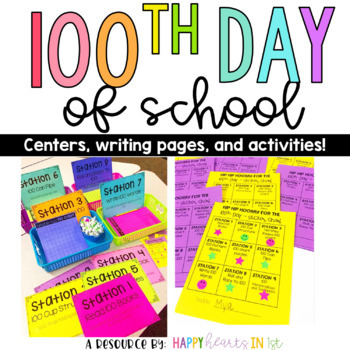 100th Day of School Fun! Activities, centers, and writing templates