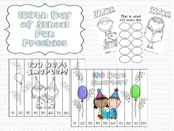 100th Day of School Fun Freebies