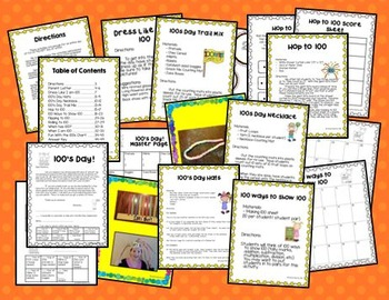 100th Day of School Fun Pack UK