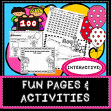 100th Day Fun Pages - Stations for 100 Days