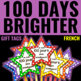 100th Day of School Gift Tags/Glow Wands FRENCH