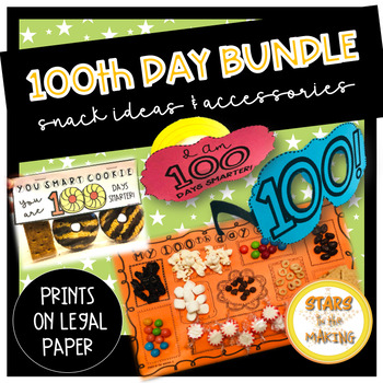 100th Day of School Bundle count to 100 legal paper 100s day