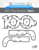 100th Day of School Glasses: Stars