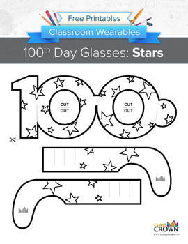100th Day of School Glasses: Stars