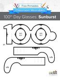 100th Day of School Glasses: Sunburst