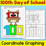 100th Day of School Math Coordinate Graphing Picture - Plotting Ordered Pairs