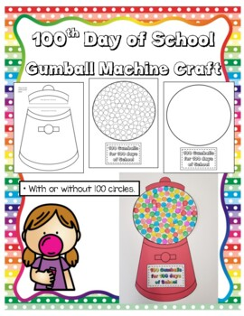 100th day of school gumball machine by luv 2 teach k tpt 100th day of school gumball machine pronofoot35fo Images