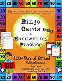 100th Day of School Handwriting Practice & Bingo Cards (Va