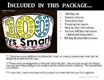 100th Day of School Hat  ::  100th Day of School Activities  ::  Valentine's Day